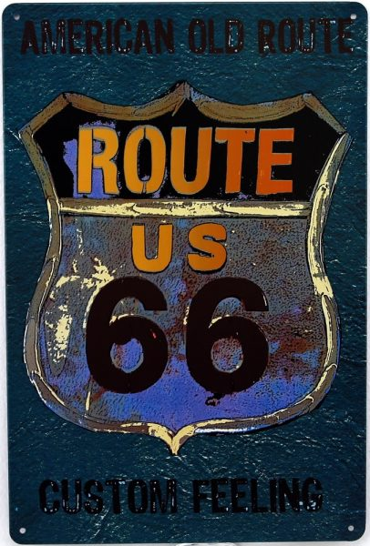 plaque décorative Route 66