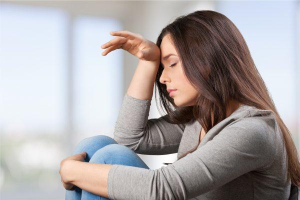 femme dépressive