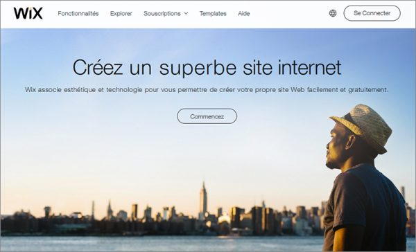 wix creer un site internet